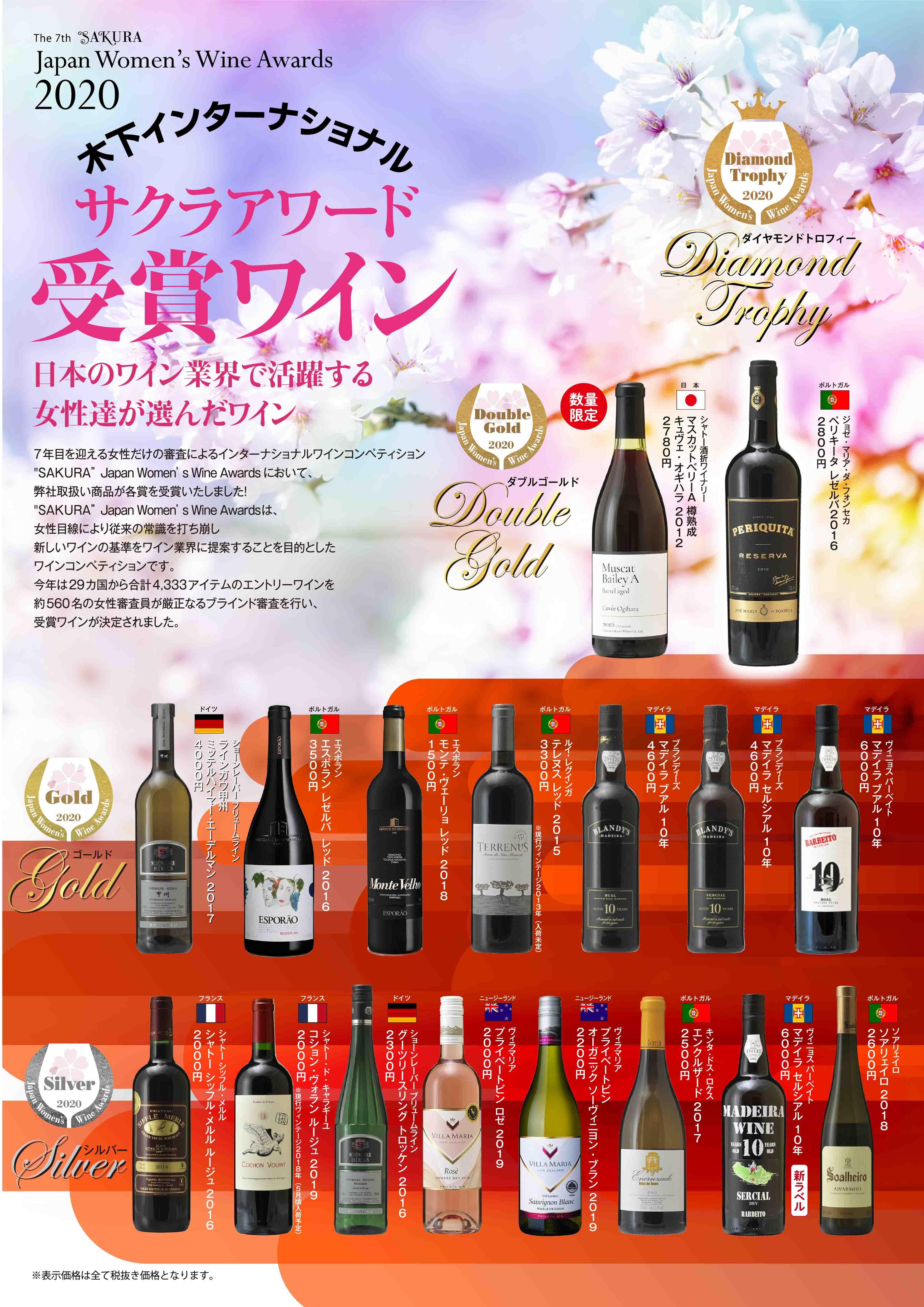SAKURA受賞ワイン
